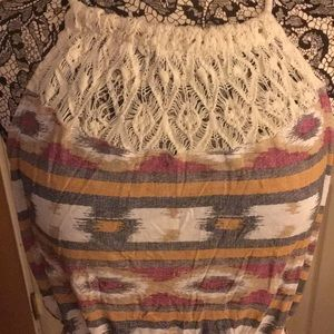 Beautiful multi-colored maxi dress by Lucky Brand